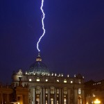 Simon Tomlinson ~ Lightning Hits St Peter's Hours After Pope Resignation
