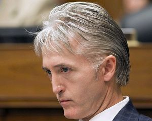 House Oversight Committee member Rep. Trey Gowdy (R-S.C.), listens during a politically contentious session on whether to compel Internal Revenue Service official Lois Lerner to testify about the extra scrutiny the IRS gave Tea Party and other conservative groups that applied for tax-exempt status, on Capitol Hill in Washington, June 28, 2013. (AP)