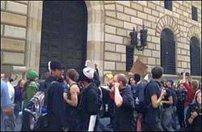 Occupy Wall Street Protesters Outside the New York Fed, September 17, 2012
