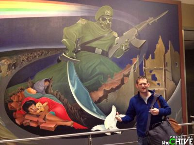 """It has all been depicted, in satanic detail (including the nuke color coding, as seen in the first rainbow), in the Denver International Airport murals."""