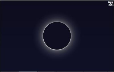Artist's Rendition of The THIN RING of the  Annular Ring of Fire Solar Eclipse on April 29, 2014 over Antarctica