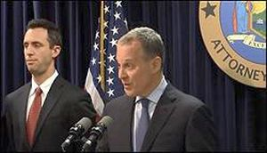 New York State Attorney General, Eric Schneiderman, (Right) Announcing Fraud Lawsuit Against Barclays Over Its Dark Pool