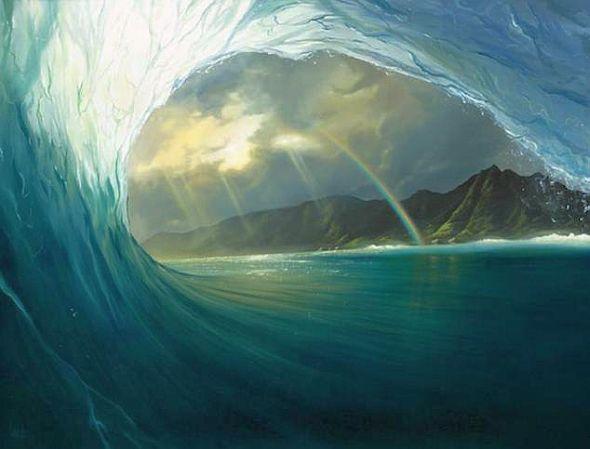 oceanWaterWaveRainbow