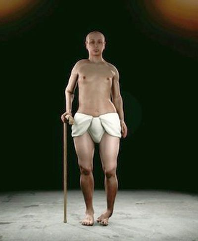 "A new computer reconstruction depicts Tut with a club foot and a ""feminizing"" hormone disorder. (VVC / Smithsonian Channel)"