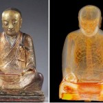 April Holloway ~ Scientists Shocked To Find Mummified Monk Inside Buddha Statue